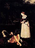 Pyramus and Thisbe, c.1530, baldung