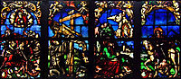 Stained glass windows in the Loch Family Chapel, baldung