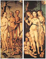 Three Ages of Man and Three Graces, 1539, baldung