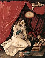 Virgin and Child in a Room, 1516, baldung