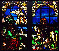 Western stained glass window in the Loch Family Chapel, 1520, baldung