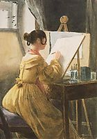 In the Atelier (Róza Teleki), 1838, barabas