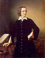 Portrait of Franz Liszt, 1847, barabas