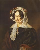 Portrait of Ms. Konkoly, 1837, barabas