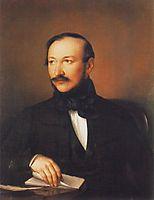 Portrait of Poet Mihály Vörösmarty, 1836, barabas