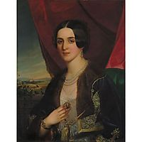 Portrait of Savka Obrenovic, 1845, barabas