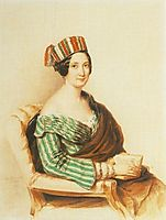 Woman in Striped Dress, 1844, barabas