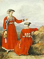 Women at Nettuno, 1835, barabas