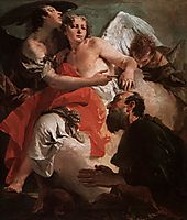 Abraham and the Three Angels, c.1730, battistatiepolo
