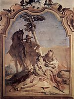 Angelica, accompanied by a shepherd who cares Medorus with herbs, 1757, battistatiepolo