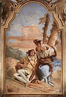 Angelica Carving Medoro-s Name on a Tree, 1757, battistatiepolo