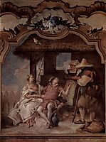 Angelica and Medorus accompanied by two peasants, 1757, battistatiepolo