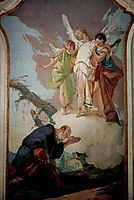 The appearance of the angels to Abraham, 1728, battistatiepolo