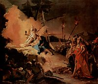 Christ on the Mount of Olives and the angel with the cup of suffering, c.1750, battistatiepolo