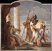 Detail of Dido, from Aeneid Presents Cupid, Disguised as Ascanius, to Dido, 1757, battistatiepolo
