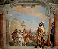 Eurybates and Talthybios Lead Briseis to Agamemmon, 1757, battistatiepolo
