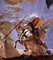 The Force of Eloquence, Bellerophon and Pegasus, c.1723, battistatiepolo