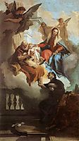 The Holy Family Appearing in a Vision to St Gaetano, 1736, battistatiepolo