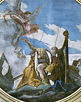 King David Playing the Harp, 1739, battistatiepolo