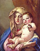 Madonna of the Goldfinch, c.1760, battistatiepolo