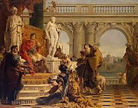 Maecenas Presenting the Liberal Arts to Emperor Augustus, 1743, battistatiepolo