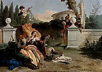 Rinaldo and Armida are surprised by Ubaldo and Carlo, 1755, battistatiepolo