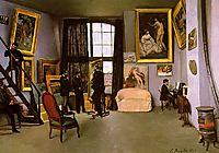 The Artist-s Studio, Rue de la Condamine, 1870, bazille