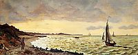 Beach at Sainte-Adresse, 1865, bazille