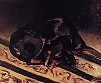 The Dog Rita Asleep, 1864, bazille