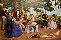 Family Reunion, 1867, bazille