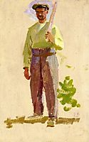 Grape Picker in a Cap, bazille