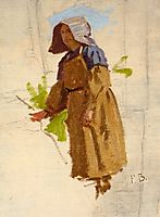 Grape Picker in a Cap I, bazille