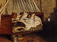 The Improvised Field-Hospital, 1865, bazille