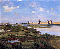 Landscape of Aigues-Mortes, 1867, bazille