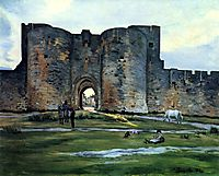 Port of the Queen at Aigues-Mortes, 1867, bazille