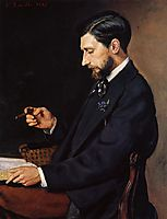 Portrait of Edmond Maitre, 1869, bazille