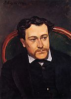 Portrait of Édouard Blau, 1866, bazille
