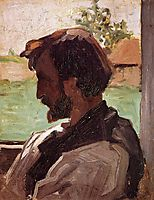 Self-Portrait at Saint-Saveur, 1868, bazille
