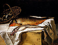 Still life with fish, 1866, bazille