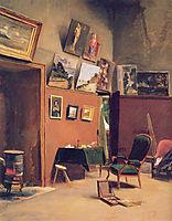 Studio, rue Furstenberg, 1865, bazille