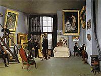 Studio, rue de la Condamine, 1870, bazille