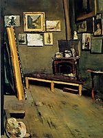Studio of The Rue Visconti , 1867, bazille