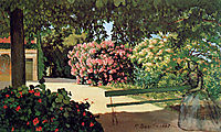 The Terrace at Méric (Oleander), 1867, bazille