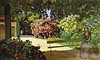 The Terrace at Méric,Oleander, 1867, bazille