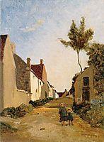 Village Street, 1865, bazille