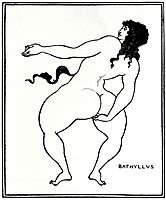 Bathyllus taking the pose, beardsley