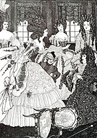 The Battle of the Beaux and the Belles, 1896, beardsley