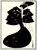 The Black Cape, 1894, beardsley