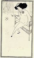 Caricature of James McNeill Whistler, beardsley