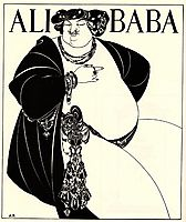 Cover Design for Ali Baba, 1897, beardsley